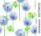 delicate watercolor flowers in ... | Shutterstock . vector #1027238722