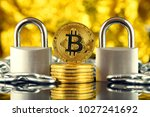 physical version of bitcoin ... | Shutterstock . vector #1027241692
