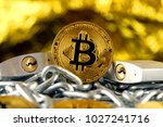physical version of bitcoin ... | Shutterstock . vector #1027241716