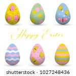 decorative easter eggs .easter... | Shutterstock .eps vector #1027248436