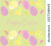 decorative easter eggs .easter... | Shutterstock .eps vector #1027248445