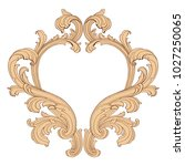 retro baroque decorations... | Shutterstock .eps vector #1027250065
