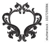 retro baroque decorations... | Shutterstock .eps vector #1027250086