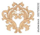retro baroque decorations... | Shutterstock .eps vector #1027250152