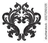 retro baroque decorations... | Shutterstock .eps vector #1027250155