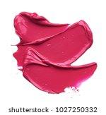 pink makeup smear of lip gloss... | Shutterstock . vector #1027250332