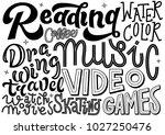 different hobbies hand... | Shutterstock .eps vector #1027250476