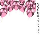 light pink metallic baloons on...   Shutterstock . vector #1027256566