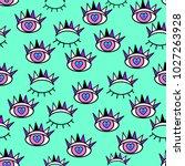 abstract seamless sport eyes... | Shutterstock .eps vector #1027263928