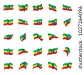 ethiopia flag  vector... | Shutterstock .eps vector #1027264096