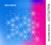 web traffic concept in... | Shutterstock .eps vector #1027267906