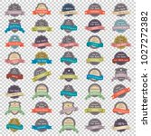 collection of vintage premium... | Shutterstock .eps vector #1027272382