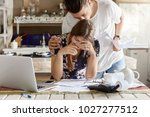 family and economy concept.... | Shutterstock . vector #1027277512