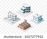 set of 4 isometric high quality ... | Shutterstock .eps vector #1027277932