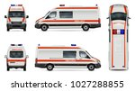 ambulance car vector mock up.... | Shutterstock .eps vector #1027288855