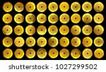 sequins set isolated on black.... | Shutterstock . vector #1027299502