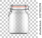 vector empty bale glass jar... | Shutterstock .eps vector #1027302298