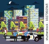 police chilling on work | Shutterstock .eps vector #1027302565