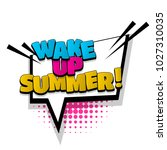 wake up summer hand drawn... | Shutterstock .eps vector #1027310035
