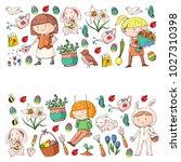 spring children banners kids... | Shutterstock .eps vector #1027310398