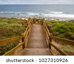 stairs to the beach at moses... | Shutterstock . vector #1027310926