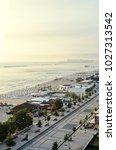 beach of black sea from mamaia  ... | Shutterstock . vector #1027313542