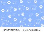 baby background with bears   Shutterstock . vector #1027318012