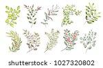watercolor illustration. ... | Shutterstock . vector #1027320802