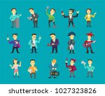 set of different character... | Shutterstock .eps vector #1027323826