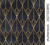 seamless geometric pattern. art ... | Shutterstock . vector #1027323892