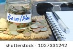 money coin in jar ideas for... | Shutterstock . vector #1027331242