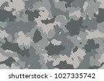 camouflage seamless pattern... | Shutterstock .eps vector #1027335742