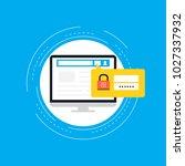 secure account login flat...   Shutterstock .eps vector #1027337932