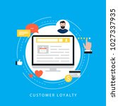 customer loyality satisfaction  ... | Shutterstock .eps vector #1027337935