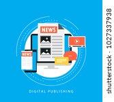 online news  newspaper  news...   Shutterstock .eps vector #1027337938