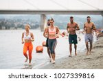 group of young attractive... | Shutterstock . vector #1027339816