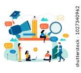 education  video tutorial ...   Shutterstock .eps vector #1027340962