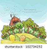 "harvest  background ""happy... | Shutterstock .eps vector #102734252"