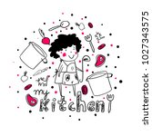 """my kitchen"" illustration 