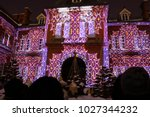 projection mapping on the... | Shutterstock . vector #1027344232