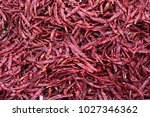 red dried chilli  crop is only... | Shutterstock . vector #1027346362