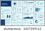 business presentation slides... | Shutterstock .eps vector #1027359112