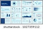 business presentation slides... | Shutterstock .eps vector #1027359112
