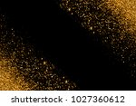 defocused gold glitter with... | Shutterstock . vector #1027360612