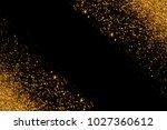 defocused gold glitter with... | Shutterstock . vector #1027360612
