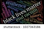 black lives matter word cloud... | Shutterstock .eps vector #1027363186