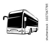 vector coach bus hand drawn... | Shutterstock .eps vector #1027367785