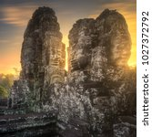 sunrise view of ancient temple... | Shutterstock . vector #1027372792