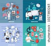 transplantation 2x2 design... | Shutterstock . vector #1027383265
