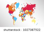 color world map vector   Shutterstock .eps vector #1027387522